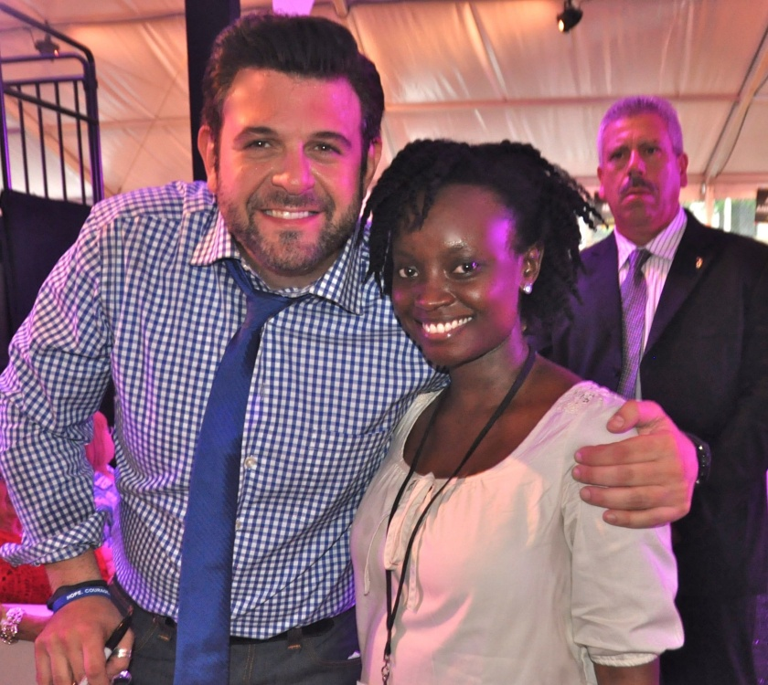 Meeting host Adam Richman